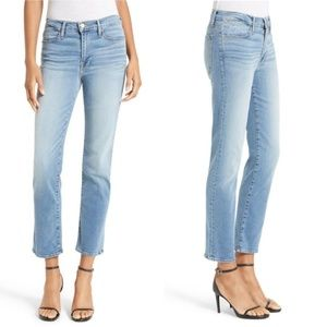 Frame Le High Straight Crop Ankle Jeans 24